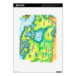 Map of Canada Decal For iPad 3