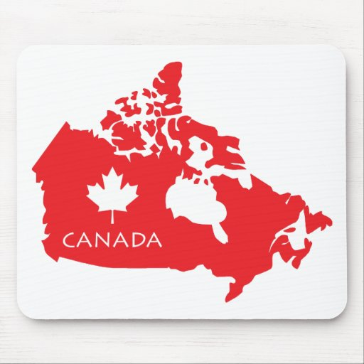Map Of Canada Mouse Pad