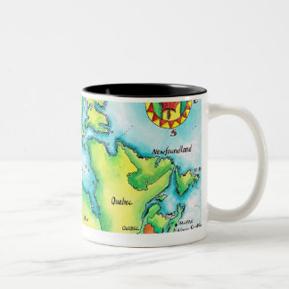 Map of Canada Two-Tone Coffee Mug