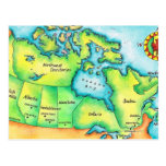Map of Canada Post Card