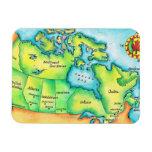 Map of Canada Vinyl Magnet