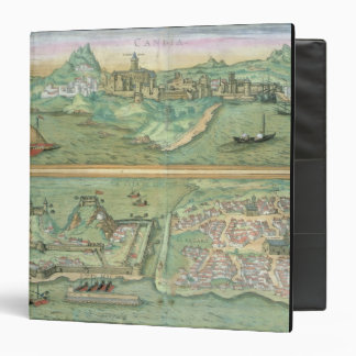 Map of Candia and Corfu, from 'Civitates Orbis Ter 3 Ring Binder