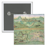 Map of Candia and Corfu, from 'Civitates Orbis Ter Button