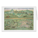 Map of Candia and Corfu, from 'Civitates Orbis Ter Card