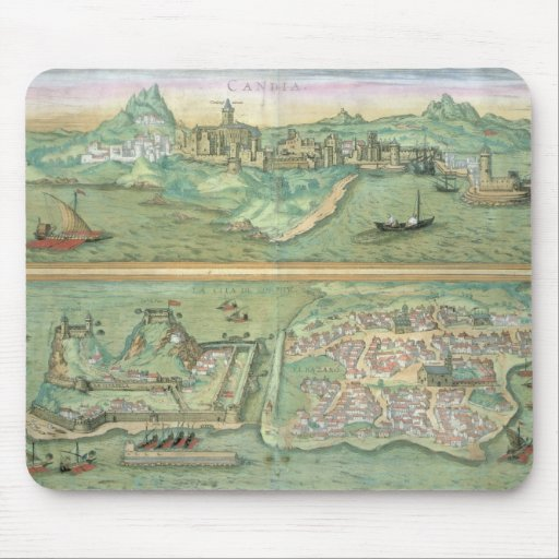 Map of Candia and Corfu, from 'Civitates Orbis Ter Mouse Pad