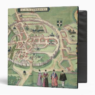 Map of Canterbury, from 'Civitates Orbis Terrarum' Binder
