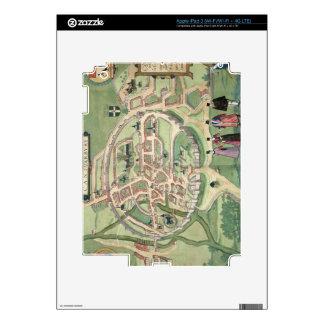 Map of Canterbury, from 'Civitates Orbis Terrarum' Decals For iPad 3