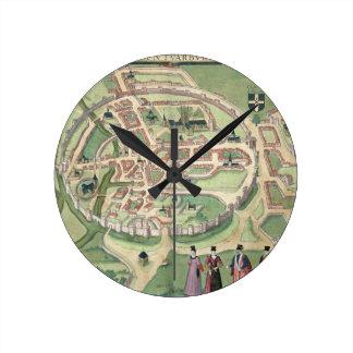 Map of Canterbury, from 'Civitates Orbis Terrarum' Round Clock