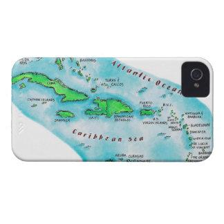 Map of Caribbean Islands Case-Mate iPhone 4 Case
