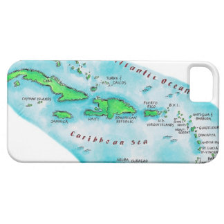 Map of Caribbean Islands iPhone SE/5/5s Case
