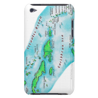 Map of Caribbean Islands iPod Touch Cover