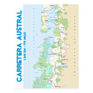 Map of Carretera Austral Postcard