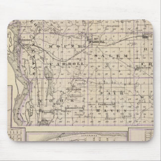 Map of Carroll County, Mt Carroll Mouse Pad