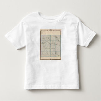Map of Carroll County, State of Iowa Toddler T-shirt