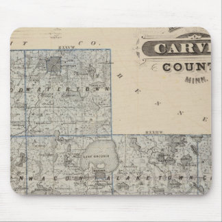 Map of Carver County, Minnesota Mousepads