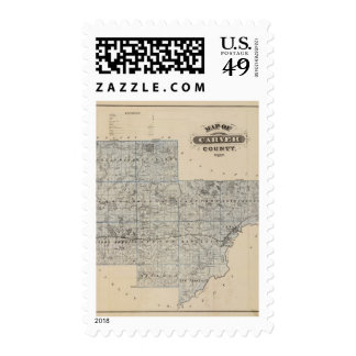 Map of Carver County, Minnesota Postage Stamps