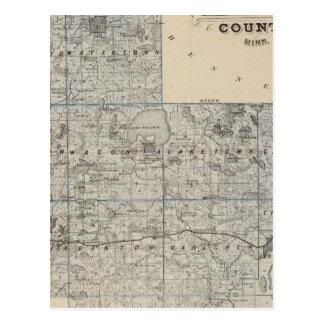 Map of Carver County, Minnesota Postcard