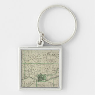 Map of Cass County Keychain