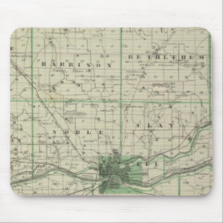 Map of Cass County Mouse Pad