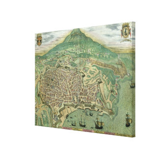 Map of Catania, from 'Civitates Orbis Terrarum' by Canvas Print