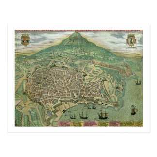 Map of Catania, from 'Civitates Orbis Terrarum' by Postcard