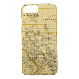 Map of Cedar County, State of Iowa iPhone 8/7 Case