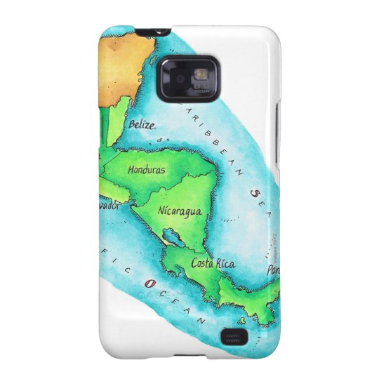 Map of Central America Galaxy S2 Cover