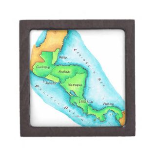 Map of Central America Gift Box
