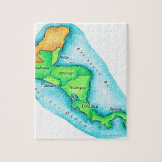 Map of Central America Jigsaw Puzzles
