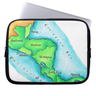 Map of Central America Laptop Sleeve