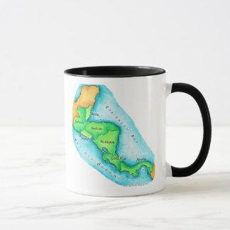 Map of Central America Mug