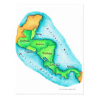 Map of Central America Postcard
