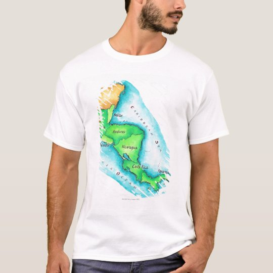 Map of Central America T-Shirt