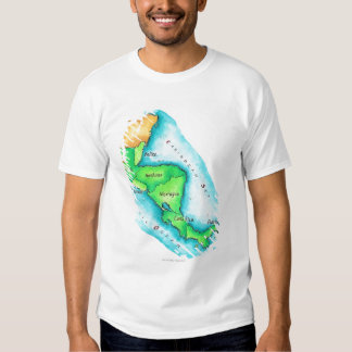 Map of Central America Tee Shirt