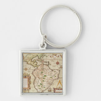 Map of Central and South America Keychain