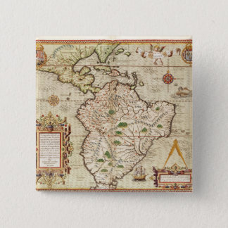 Map of Central and South America Pinback Button