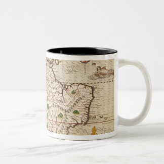 Map of Central and South America Two-Tone Coffee Mug