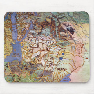 Map of Central Europe Mouse Pad