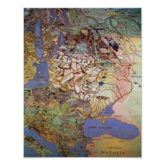 Map of Central Europe Poster