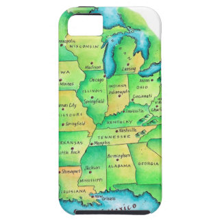 Map of Central United States iPhone 5 Covers