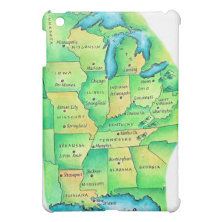 Map of Central United States Case For The iPad Mini