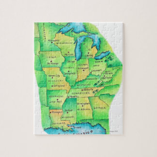 Map of Central United States Jigsaw Puzzle