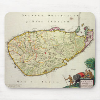 Map of Ceylon according to Nicolas Visscher Mouse Pad