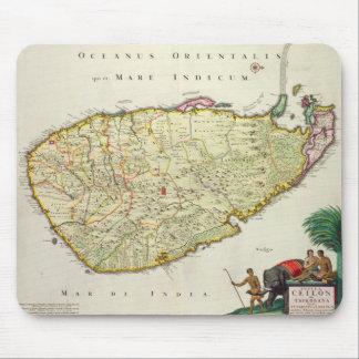Map of Ceylon according to Nicolas Visscher Mouse Pad