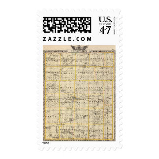 Map of Champaign County Postage