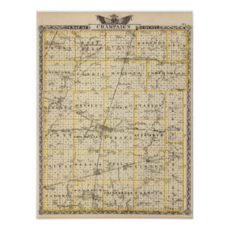 Map of Champaign County Print