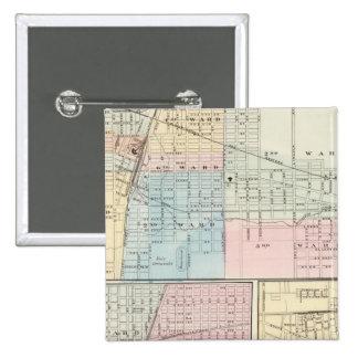 Map of Champaign, Urbana, Mattoon and Charleston Button