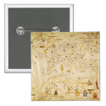 Map of Charles V, Map of Mecia 2 Inch Square Button