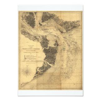 Map of Charleston Harbor South Carolina (1863) Card