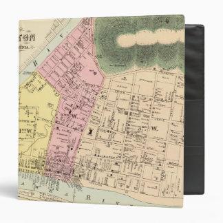 Map of Charleston, West Virginia Vinyl Binders